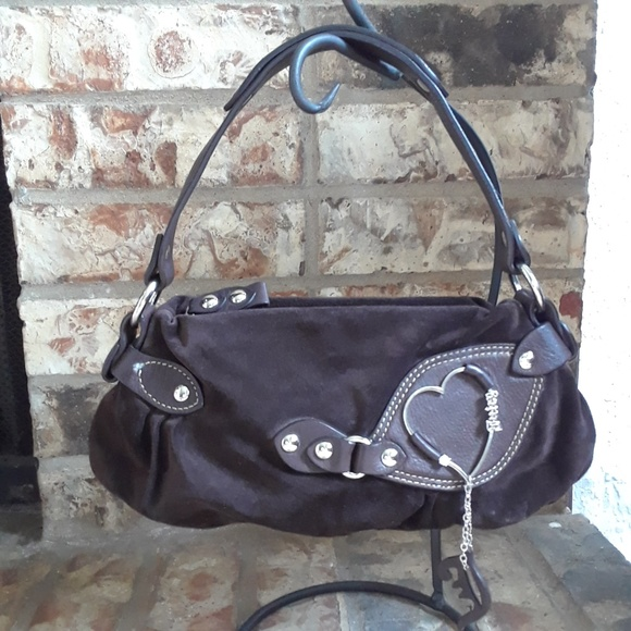 Juicy Couture Handbags - Juicy Couture Small Brown Suede Purse